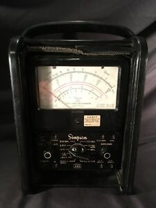 Vtg Early Simpson 260 Rare Profexray Milliamp Volt Ohm Meter Electrical Tester