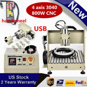 Usb 4 Axis 3040 Cnc Router Engraver 800w Engraving Drilling Machine controller