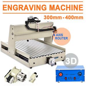 4axis 3040 Cnc Router Engraver Engraving 400w Cutter Woodworking Drilling Machin