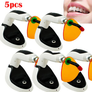 5pcs 2000mw Wireless Cordless Led Dental Curing Light Lamp 10w Teeth Whitening