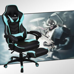 Computer Gaming Chair Racing Style Desk Seat Swivel Adjustable Recliner Office