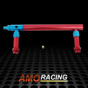 Gm Billet Aluminum Holley 4150 Double Pumper Fuel Line Log Red blue Anodized