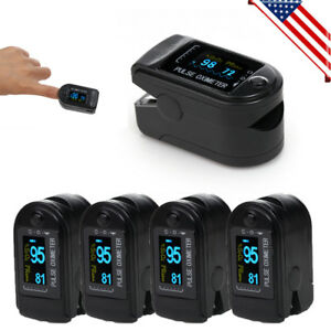 Lot 5x Oled Oximeter Pulse Finger Tip Monitor Blood Oxygen Spo2 50d free Case