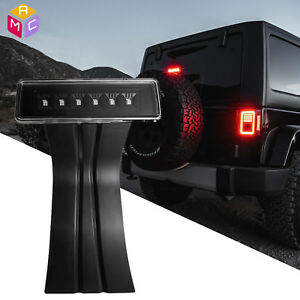 For 07 17 Jeep Wrangler Jk Rear Tail Mount Led 3rd Brake Third Stop Light Smoke