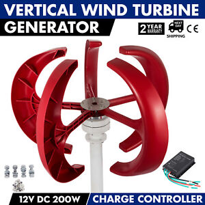 200w 12v Lanterns Wind Turbine Generator Home Power Highpower Vertical Axis