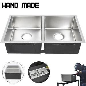 New Stainless Steel Kitchen Sink Double Bowl 30 x 18 Drop In Top Mount 18g