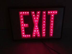 Hanging Electric Lighted Exit Sign With Long Cord