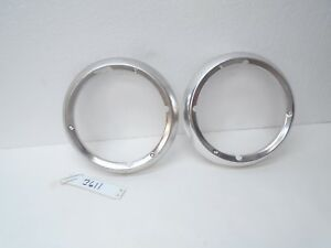 71 72 73 74 Ford Econoline Van E100 E250 Headlight Bezels Rings Ring Trim Surf