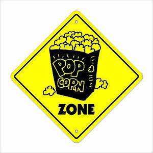 Popcorn Crossing Sign Zone Xing 14 Pop Corn Cart Concession Movie Night Snack
