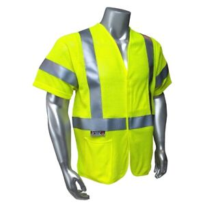 Radians Class 3 Reflective Fr Modacrylic Mesh Safety Vest Yellow lime