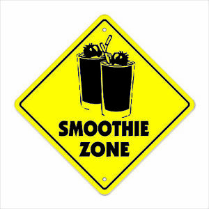 Smoothie Crossing Sign Zone Xing 14 Fruit Machine Drink Lover Drinker Health