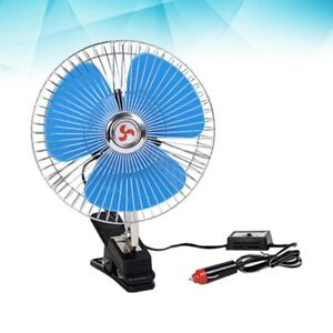 12v Vehicle Car Oscillating Fan Portable Cooling Fan For Trucks Boats Buses Cars