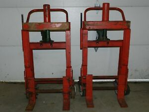Pair Of Rol a lift Model M4 6 Heavy Duty Moving Dollies 3000lb