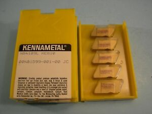 Qty Of 5 New Ng4189l Kc810 Kennametal Carbide Grooving Inserts Tin Coated