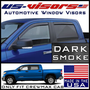 Us Visors Window In Channel Vent Visors Fits 2007 2019 Toyota Tundra Crewmax