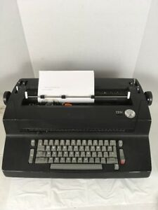 Vintage Black Ibm Selectric Ii Correcting Electric Typewriter Tested Working