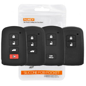 Silicone Key Case Fob Cover Remote For Toyota Avalon Tacoma Highlander Camry