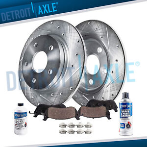 Rear Drill Brake Rotors Ceramic Pads 1994 2002 2003 2004 Ford Mustang Base Gt
