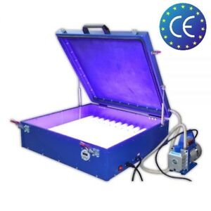 110v Vacuum Exposure Unit 24 x26 Precise Screen Printing Compressor Outside