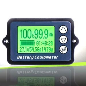 80v Battery Capacity Indicator Digital Coulomb Power Level Wire Sensor Tester