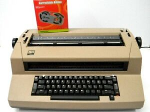 Vintage Tan Ibm Correcting Selectric Iii Typewriter Tested Working