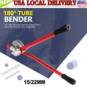 Heavy Duty 2in1 180 Handheld Tube Bender 15 22mm Plumbing Copper Alumiunm Pipe