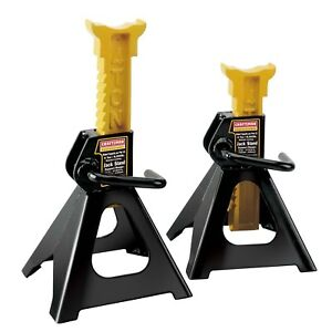 Craftsman 4 Ton Lift Jack Stands Rugged Wide Stance Baked Enamel Rust Resistnt