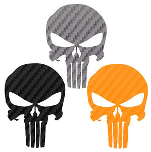 Punisher Skull Carbon Fiber Vinyl Decal Buy 1 Get 1 Free Punisher Sticker