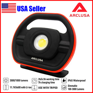 Arclusa 3000lm Super Led Rechargeable Waterproof 180 Rotating Flood Work Light