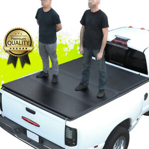 For 09 18 Ram Truck 5 8 Ft Short Bed Hard Tri Fold Clamp On Tonneau Cover Kit