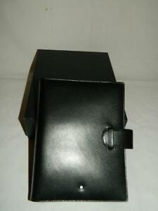 New Old Stock Montblanc Organizer Day Planner Black Leather 30550 Mint In Box