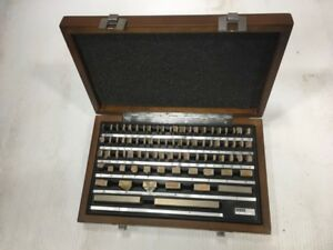 Unused 81pc Rectangular Precision Gage Block Set 05 4