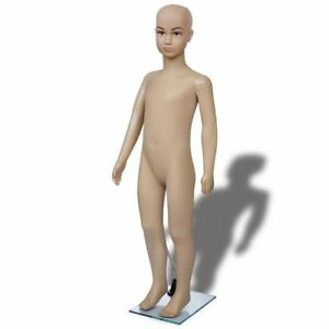 Child Mannequin Full Body Size Pe Realistic Display Head Turns Dress Form W base