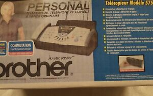 Brand New Brother Fax 575 Personal Plain Paper Fax Machine