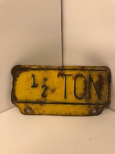Vintage Accessory 1 2 Ton Truck Plate Topper Ford Chevrolet Dodge 1937 1941 1947