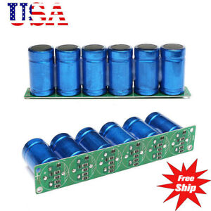 Us Farad Capacitor 2 7v 500f 6 Pcs 1 Set Super Capacitance With Protection Board