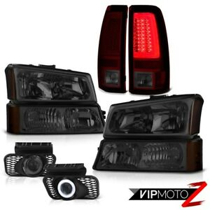 03 04 05 06 Chevy Silverado Taillamps Smoked Signal Light Headlights Fog Lamps