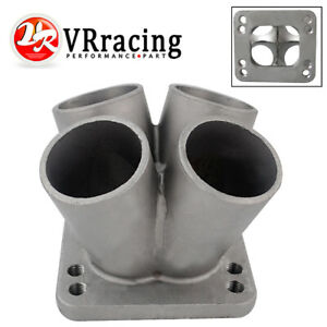 New Cast Stainless Steel 4 1 Turbo Header Manifold Merge Collector T3 T4 Flange