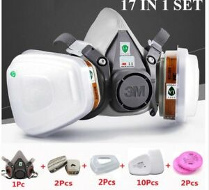 17 In 1 Half Face Painting Respirator Filters Work Safety Anti gas Dust Mask
