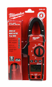 New Milwaukee 2235 20 400 Amp Rms Clamp Meter With Led Work Light