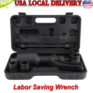 1 78 Torque Multiplier Set Wrench Lug Nut Labor Saving Lugnuts Remover 4x Socket