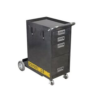Rolling Welding Storage Cabinet Drawer Tank Wheels Mig Tig Flux Plasma Shelves
