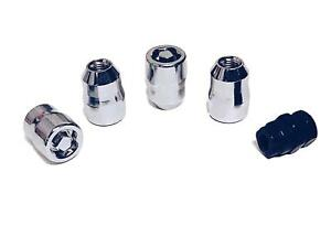 4 Chrome Wheel Lug Nut Locks W key 14x1 5mm Dodge Charger Lexus Lx 570