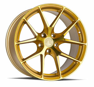 20x9 Aodhan Ls007 5x120 30 Gold Machined Face Rims New Set