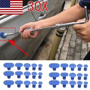 30pcs Car Dent Puller Pulling Tabs Paintless Dent Repair Pdr Glue Puller Blue Us