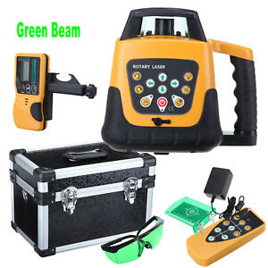 Automatic Self leveling Rotary Laser Level Green Beam 500m Remote Control Case