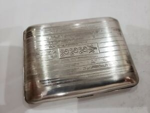 Antique Vintage American Elgin Sterling Silver Cigarette Card Case Holder 127g