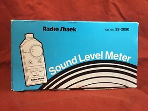 Radio Shack Sound Level Meter W Case Cat No 33 2050 New In Box 60 120db