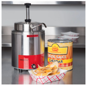3 5 Qt Warmer Pump Hot Fudge Caramel Nacho Cheese Commercial Dispenser 10 Can