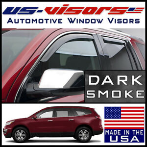 Us Visors 2009 2017 Chevy Traverse In Channel Window Vent Visors Rain Guards